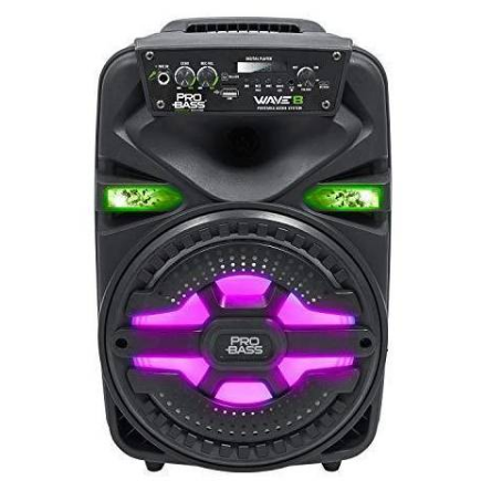 "PROBASS WAVE 8 Active box 8"" with Battery/Lights/Bt/USB+MIC"