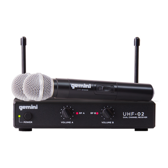 GEMINI UHF-02M WIRELESS MICROPHONE SYSTEM