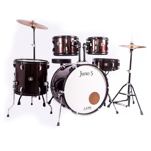 Bateria ADW Juno 5 Pieces Drum /w Cymbals  WINE RED