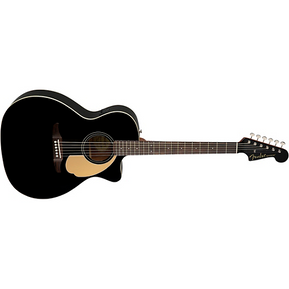 Fender California Newporter Player Acoustic-Electric Guitar Jetty Black