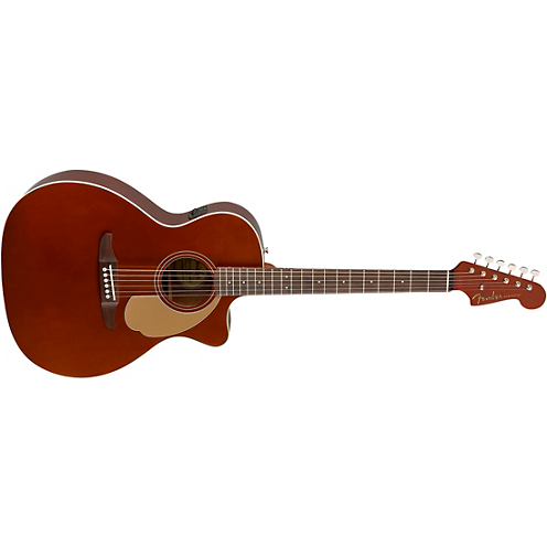 Fender California Newporter Player Acoustic-Electric Guitar Rustic Copper