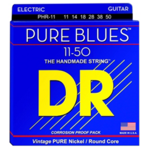 DR Electric Guitar Strings Pure Blues Nickel Light 11-50
