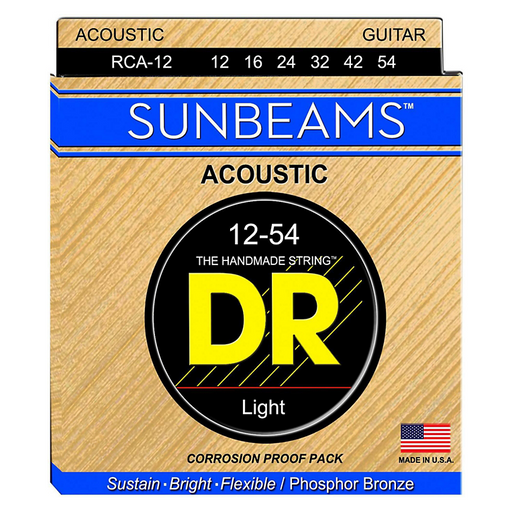 DR Acoustic Guitar Strings Sunbeam Phosphor Bronze Medium 12-54