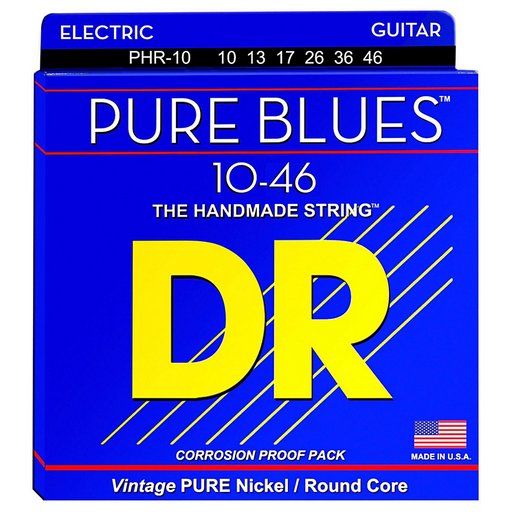 DR Electric Guitar Strings Pure Blues Nickel Light 10-46
