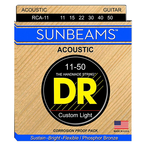 DR Acoustic Guitar Strings Sunbeam Phosphor Bronze Medium 11-50