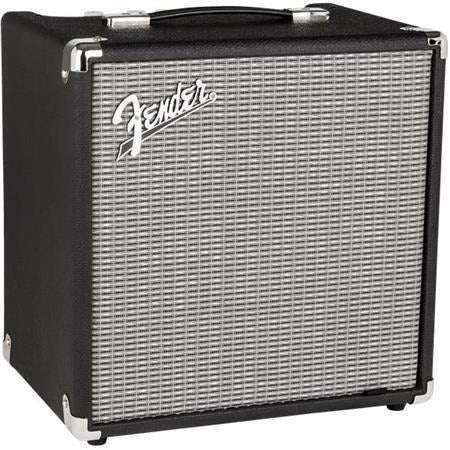 "Fender Rumble 25 (V3) Bass Amplifier with 8"" Speaker, Black/Silver"