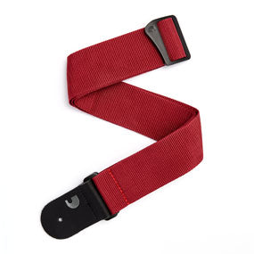 D'Addario Polypropylene Guitar Strap, Red