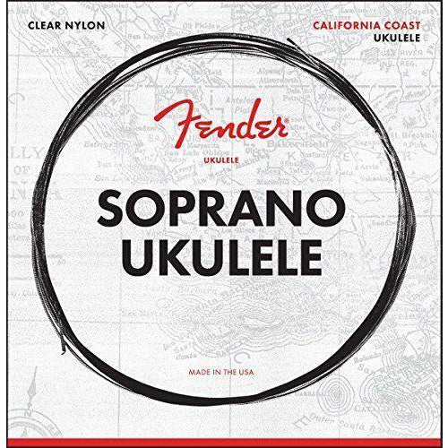 Fender 90S California Coast Clear Nylon 4-String Soprano Ukulele Strings