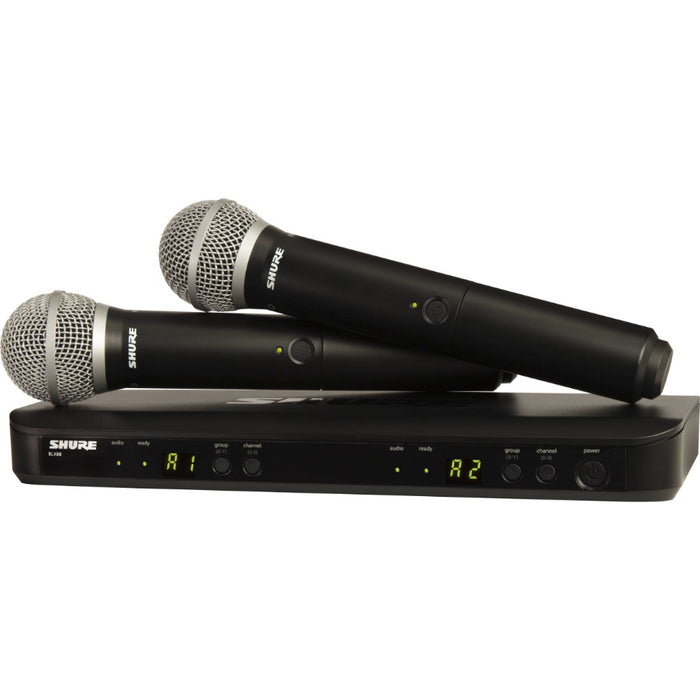 Shure Dual Channel Wireless Handheld Microphone System PG58