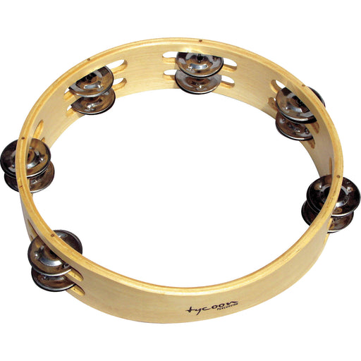 Tycoon Percussion Double Row Wooden Tambourine