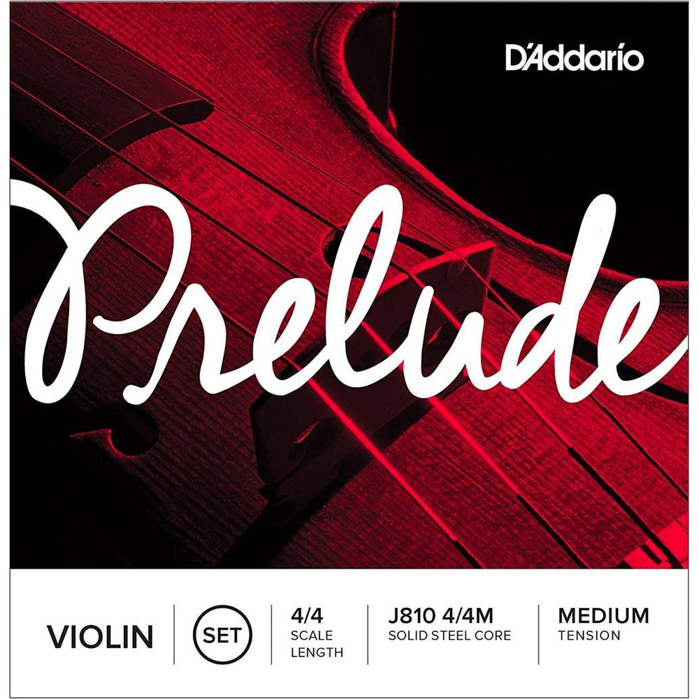 D'Addario J810-44M Prelude 4/4-Scale Violin Strings - Medium