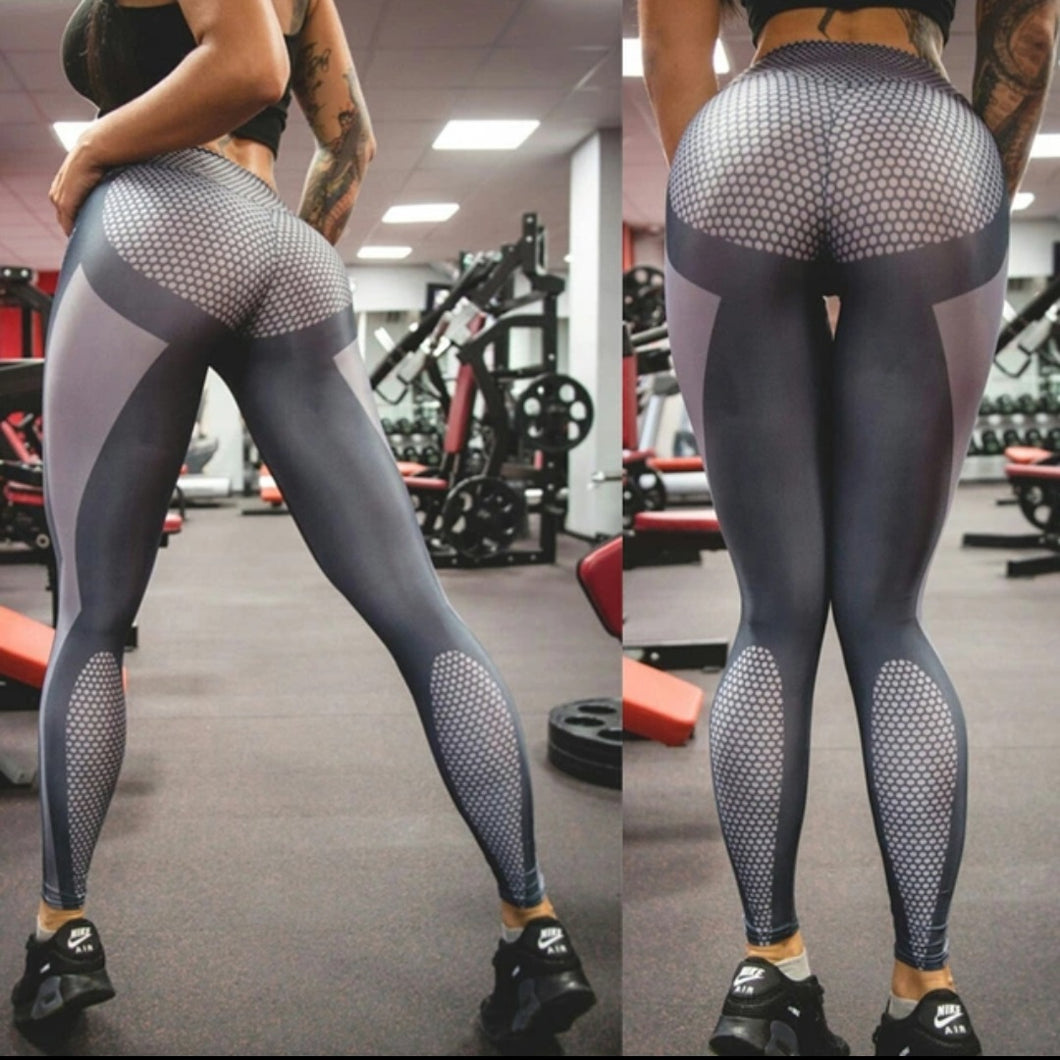 Silver Butt Lifting Woman's workout Leggings