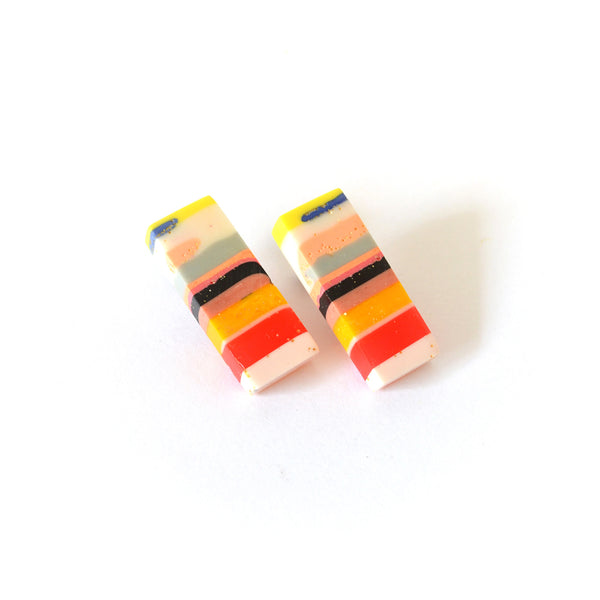 Stripy Block Stud