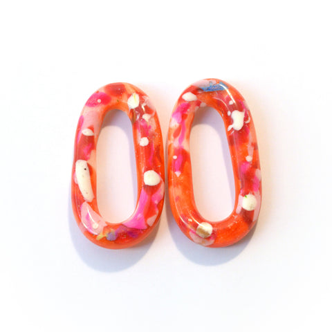 Fat Oval Donut Studs