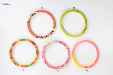 Flat Circular Bangle - Medium Size - Multiple Options Available