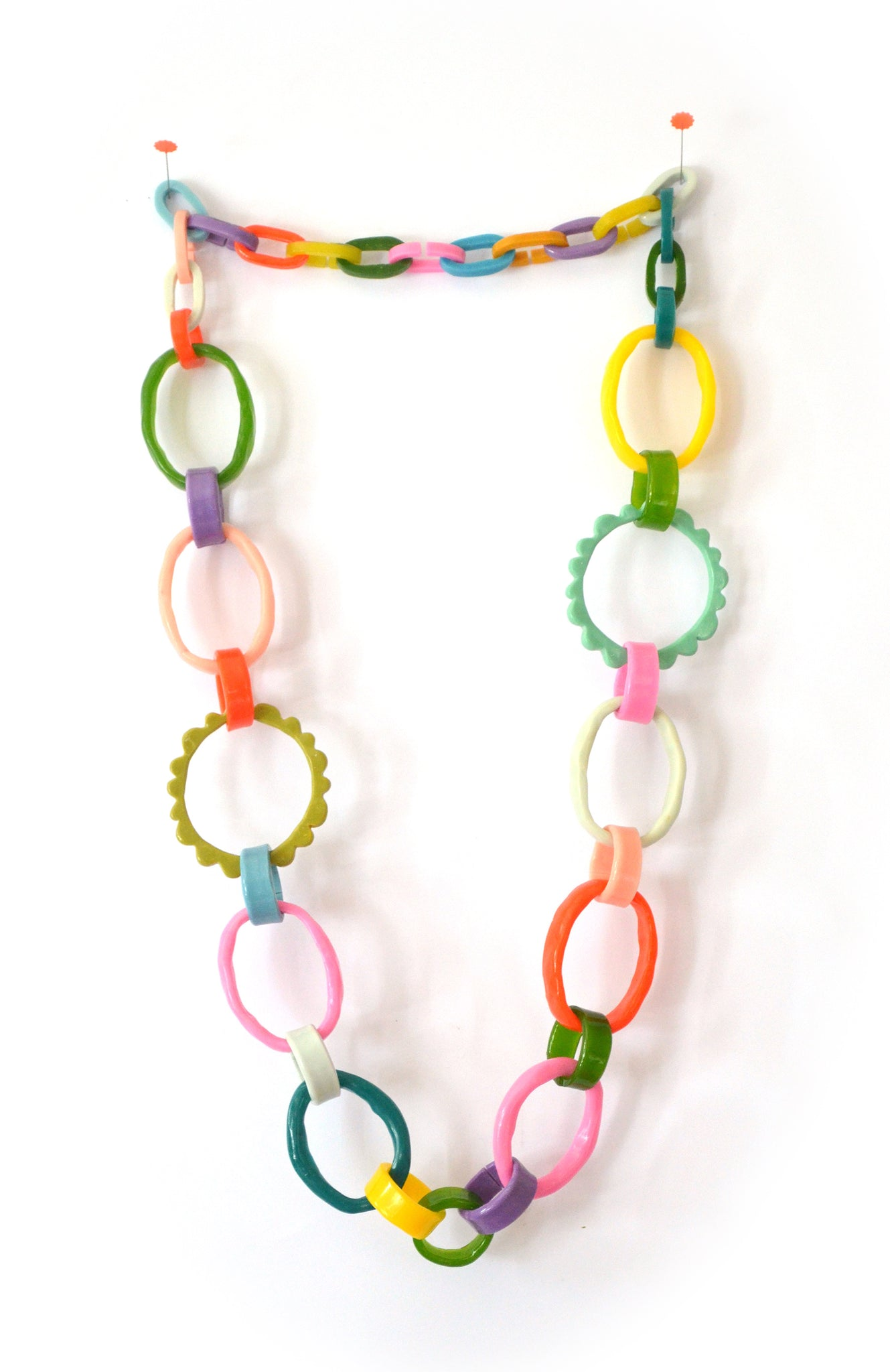 Frill Link Necklace No.1 - Made to order