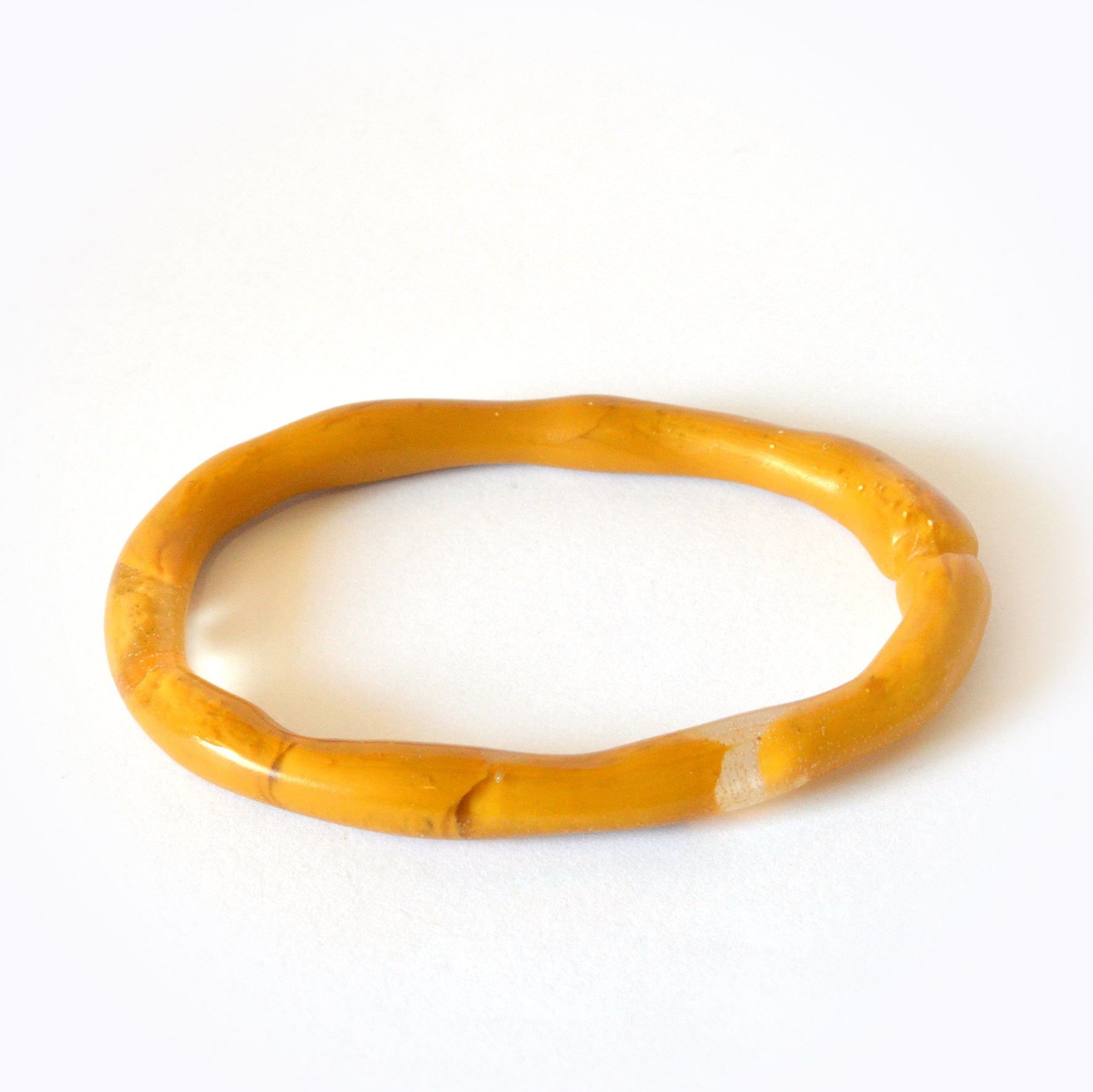Oval Organic Bangle-Large Size