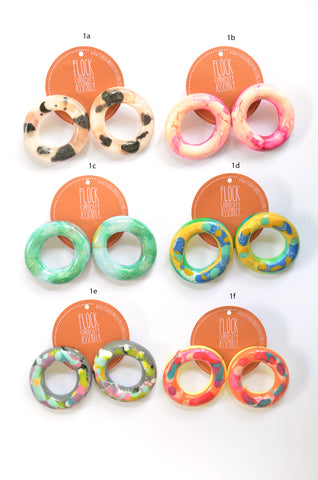 Fat Round Donut Studs -  Multiple Listings
