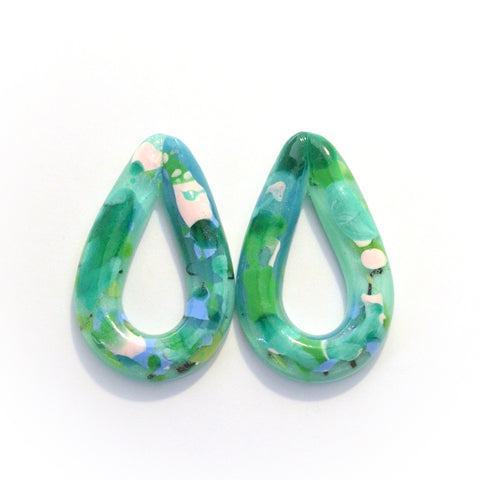 Fat Open Tear Drop Studs