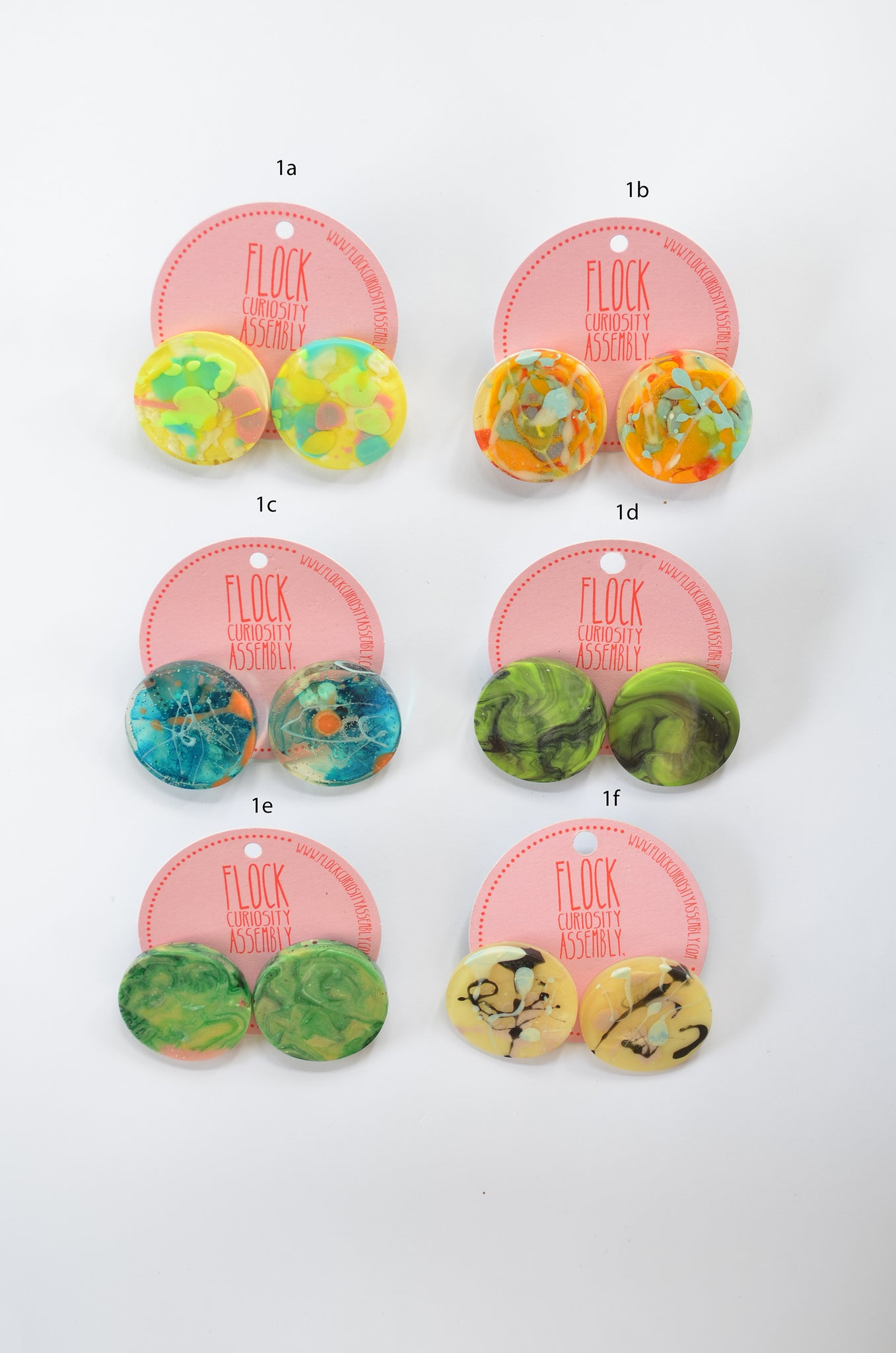 Statement Disk Studs -  Multiple Listings