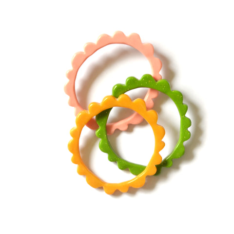 FRILL Studs - Style 2 Round - Assorted Colours