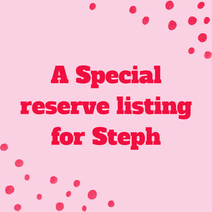 A Special Reserve Listing for Steph - Petal Drop, Sterling Silver Hooks