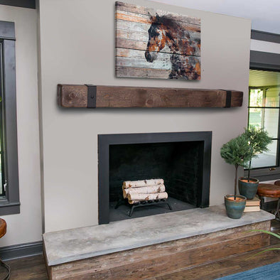 Add a Beautifully Rustic Mantel to your Home