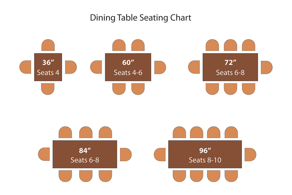 Dining table seating chart