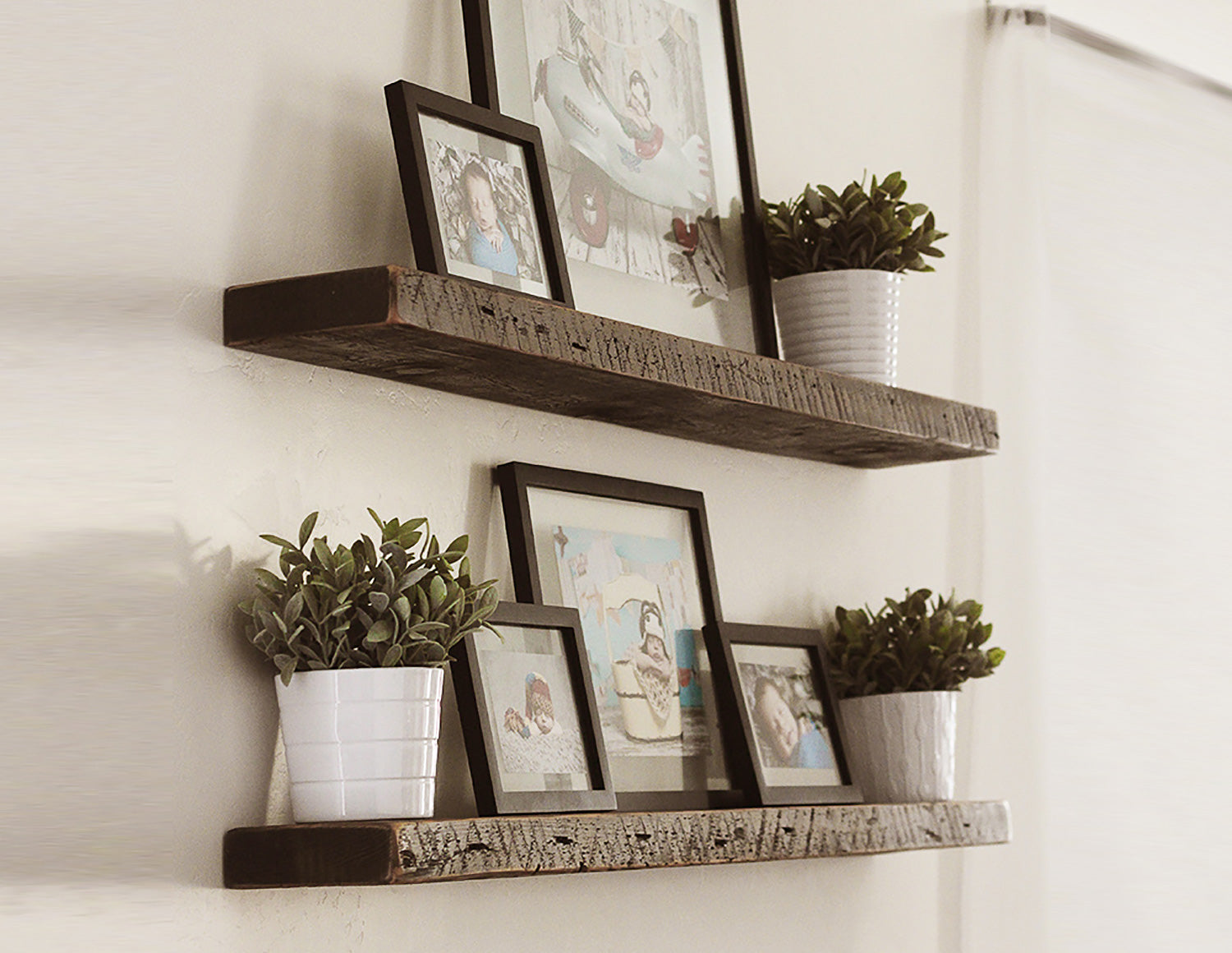 Floating Rustic Shelf - Walnut