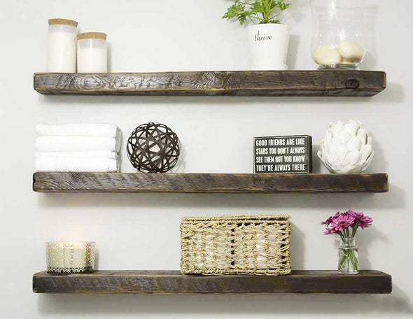 Floating Rustic Shelf - Early American