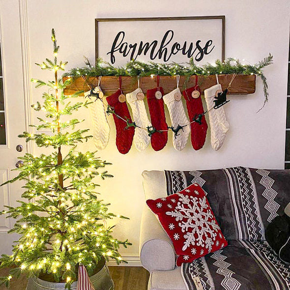 Mantel Add On - Removable Stocking & Accessory Hangers
