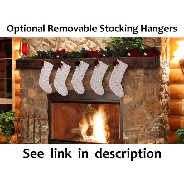Modern Fireplace Mantel with Metal Brackets