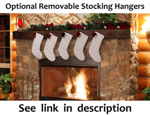 Fireplace Mantel with Metal Rivet Straps