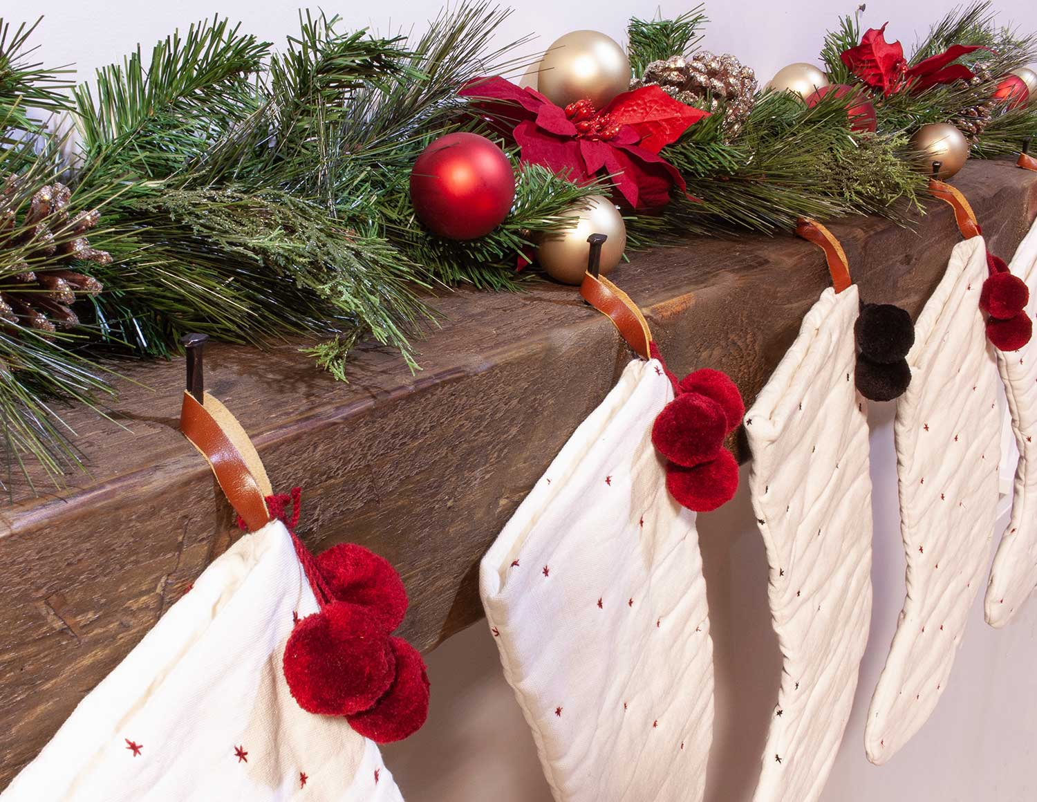 Mantel Add On - Removable Stocking Hangers