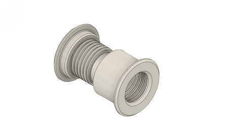 """2"""" ID Wall Eye Fits Barrier Thickness of Between 2 5/8"""" - 3 3/4"""" in thickness"""