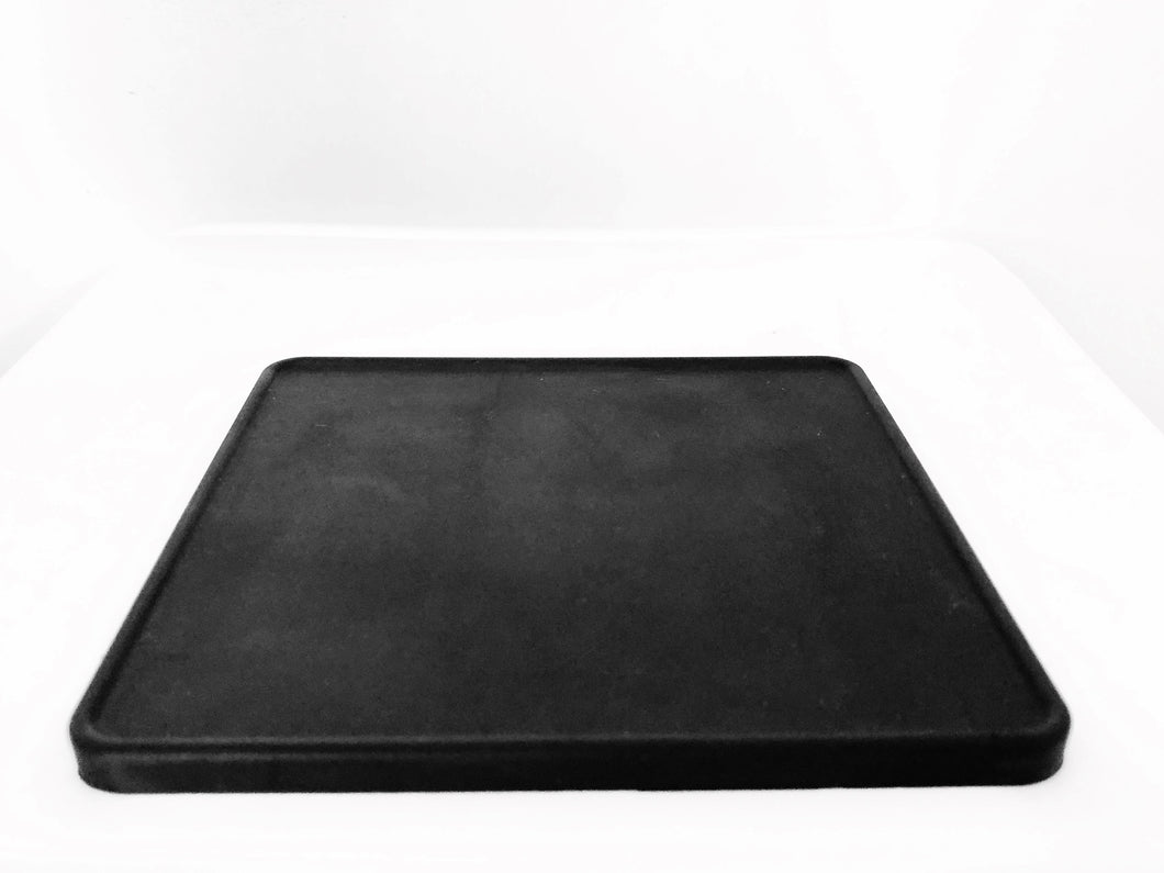 Square rubber tamp mat (Black)