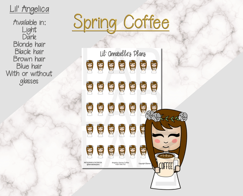 Lil' Squad Spring Coffee Stickers (Customizable) - Lil' Annabelle's Plans