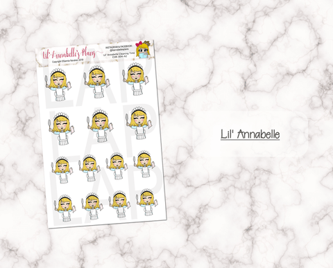 Cleaning Time (Customizable Characters) - Lil' Annabelle's Plans