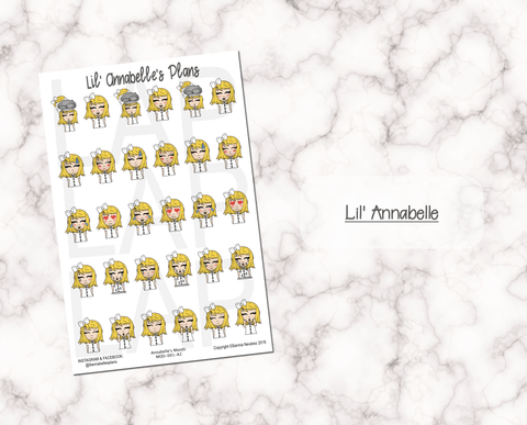 Lil' Squad Moods (Customizable) - Lil' Annabelle's Plans