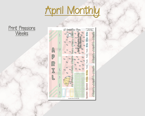April Monthly Kit for Print Pression - Lil' Annabelle's Plans