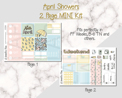 April Showers Mini Kit - Lil' Annabelle's Plans