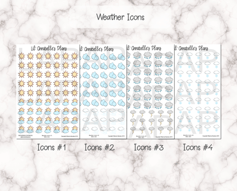 Weather Icons - Lil' Annabelle's Plans