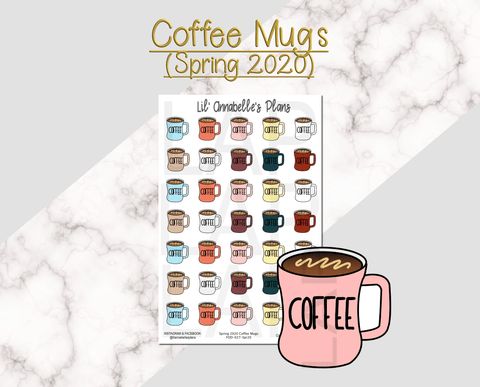 Coffee Mugs (Spring 2020 Color Pallet) - Lil' Annabelle's Plans