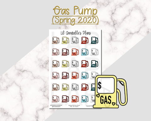 Gas Pump (Spring 2020 color pallet) - Lil' Annabelle's Plans