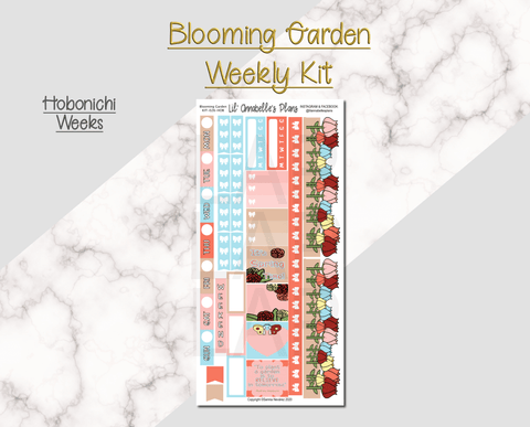 Blooming Garden for Hobonichi Weeks - Lil' Annabelle's Plans