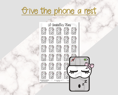 Give the phone a rest. - Lil' Annabelle's Plans
