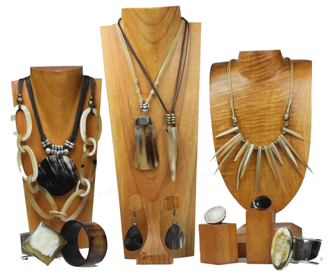 Finished Horn Jewelry Set 1