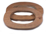 Handle handbag wood oval 117