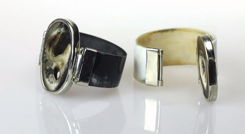 Cow horn bangle with alpaca_bbw_231