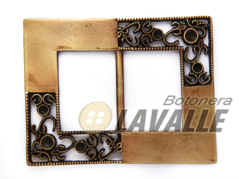Buckle baroque design rectangular 1046